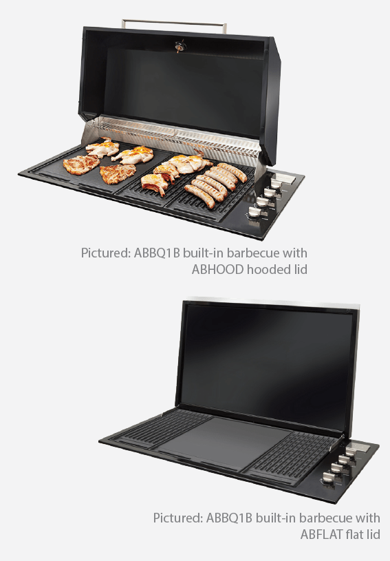 Artusi Jet Black Built In BBQ with Black Roasting Hood