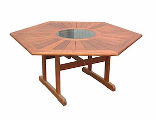 Kwila Prestige 1500mm Hexagonal Table - Joe's BBQs