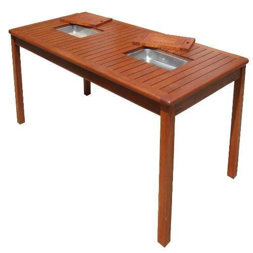 Kwila Entertainer Bar Table with Ice Buckets - Joe's BBQs