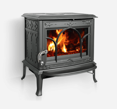 Jotul F100 Matt Black Wood Heater - Tucker Barbecues