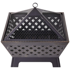 Landmann Square Fire Pit with Cover & Poker!, Fire Pit, Landmann