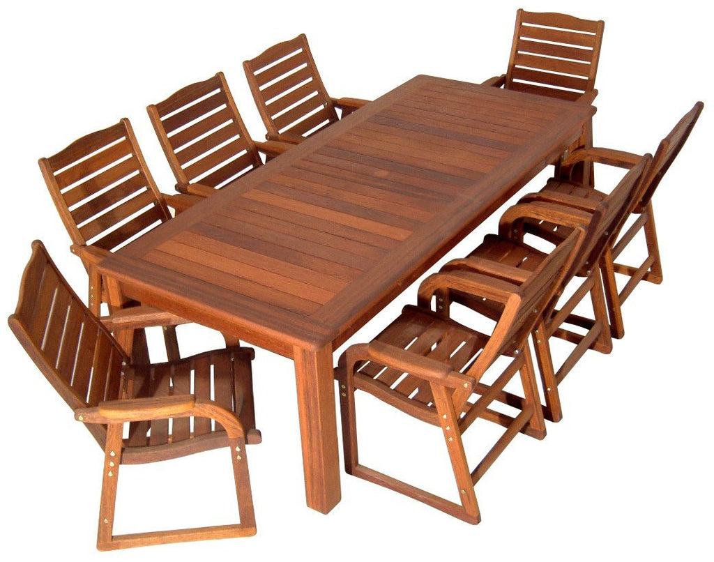 Kwila 9 Piece Prestige Dining Setting - Joe's BBQs