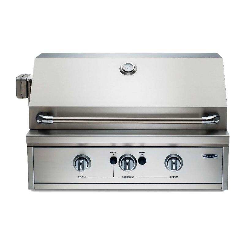 "Capital 32"" Built-In Open Grill BBQ with Solid Flat Plate"