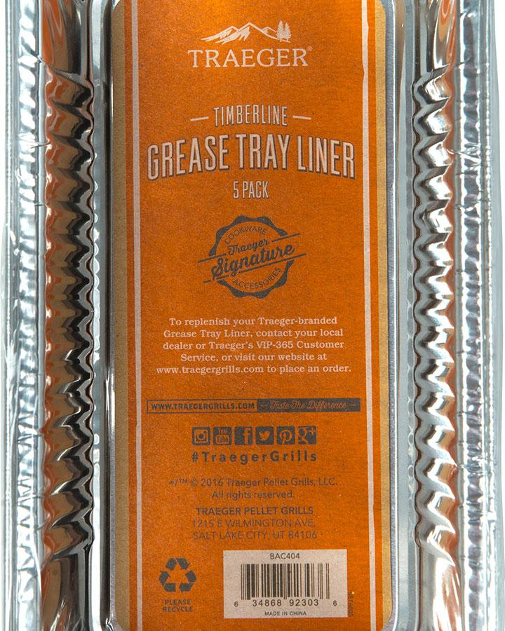 Traeger Timberline Grease Tray Liner-5 Pack - Joe's BBQs