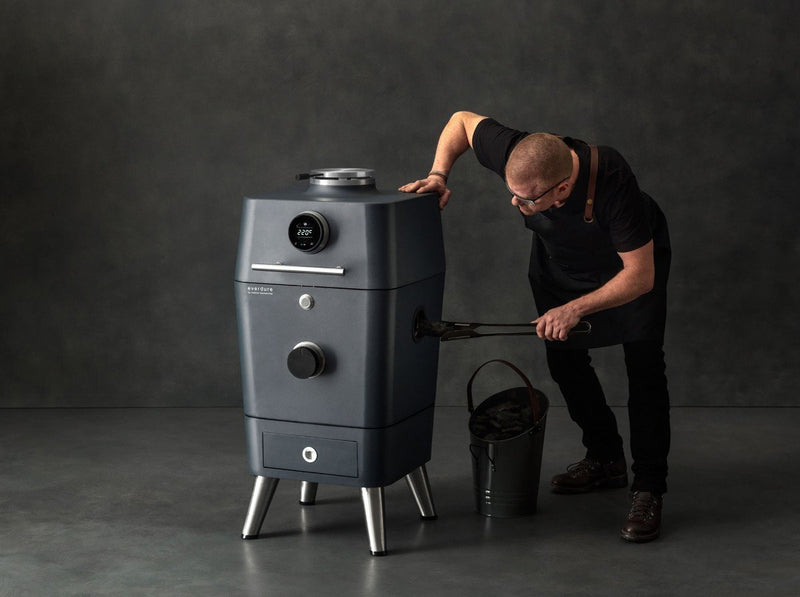 Everdure by Heston Blumenthal 4K Electric Ignition Charcoal BBQ Oven (Stone), Everdure BBQs, Everdure