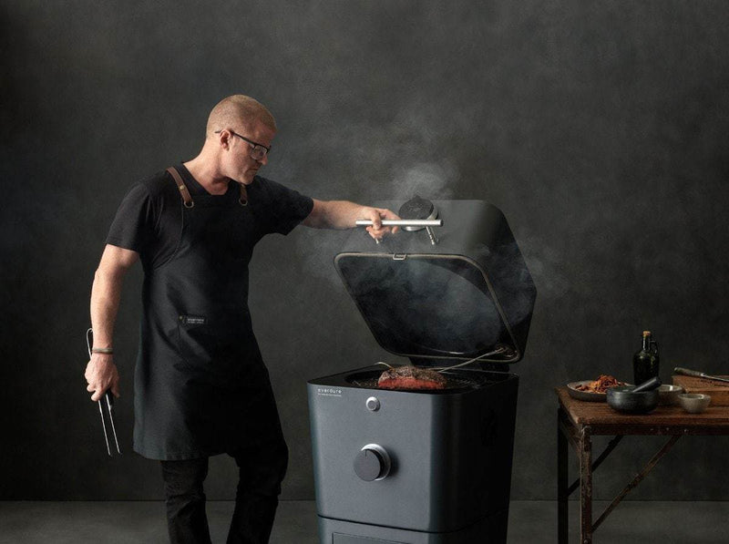 Everdure by Heston Blumenthal 4K Electric Ignition Charcoal BBQ Oven (Orange), Everdure BBQs, Everdure