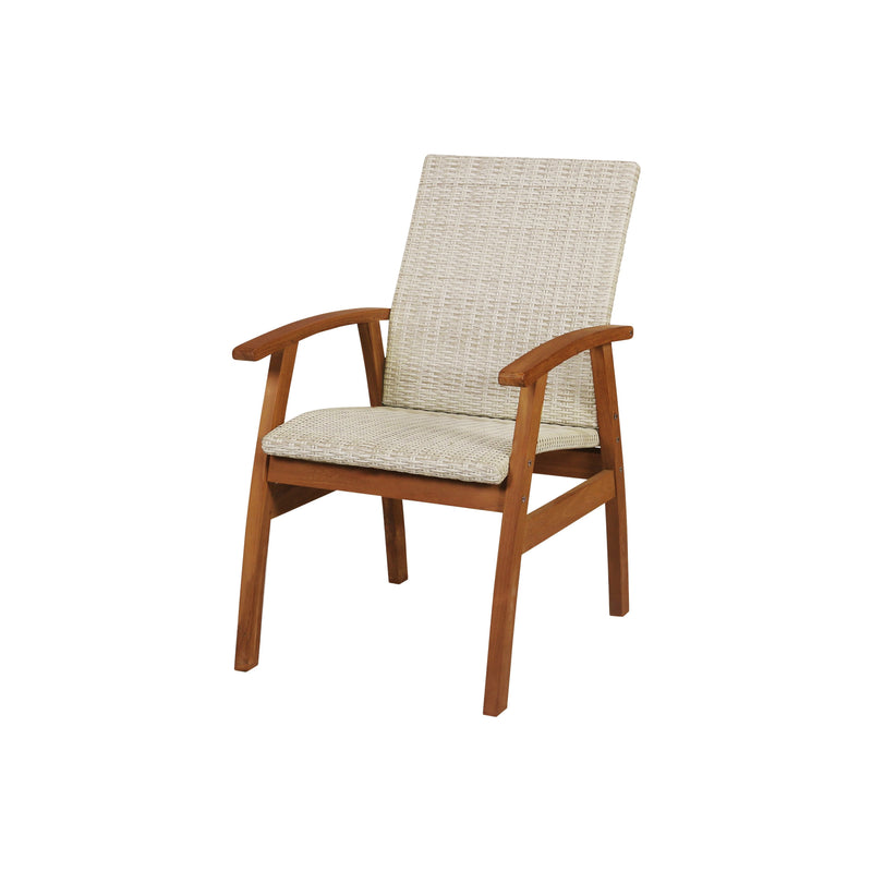 East India Flinders Wicker Chair Teak Finish, Furniture, East India Trading