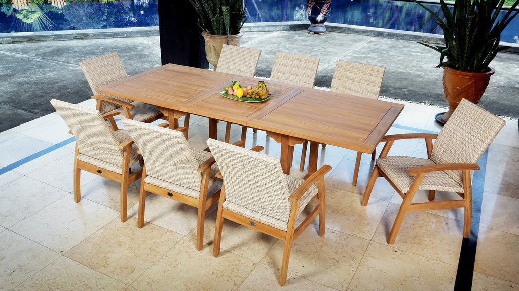 East India Kingston Extension 9 Piece Dining Setting