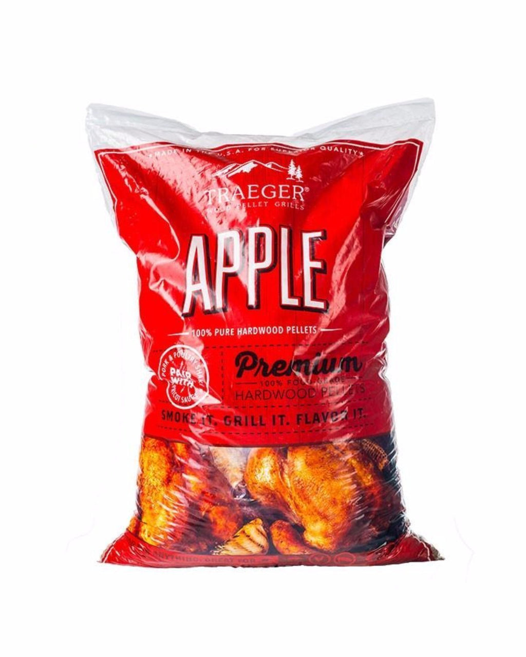 Traeger Apple Pellets 9Kg Bag, BBQ Accessories, Traeger