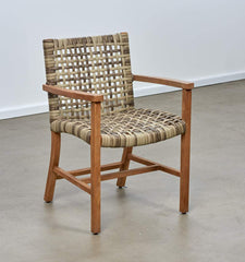 Melton Craft Bairo Teak and Wicker Arm Chair