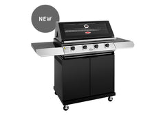 Beefeater 1200 Series 4 Burner Freestanding BBQ + Side Burner - Black