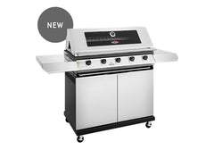 Beefeater 1200 Series 5 Burner Freestanding BBQ + Side Burner - Stainless Steel