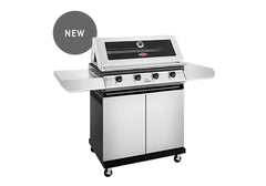 Beefeater 1200 Series 4 Burner Freestanding BBQ + Side Burner - Stainless Steel
