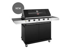 Beefeater 1200 Series 5 Burner Freestanding BBQ + Side Burner - Black