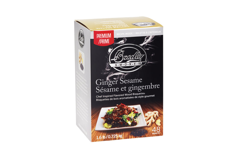 Bradley Smoker Wood Bisquettes, Premium Ginger Sesame Flavor 48 Pack