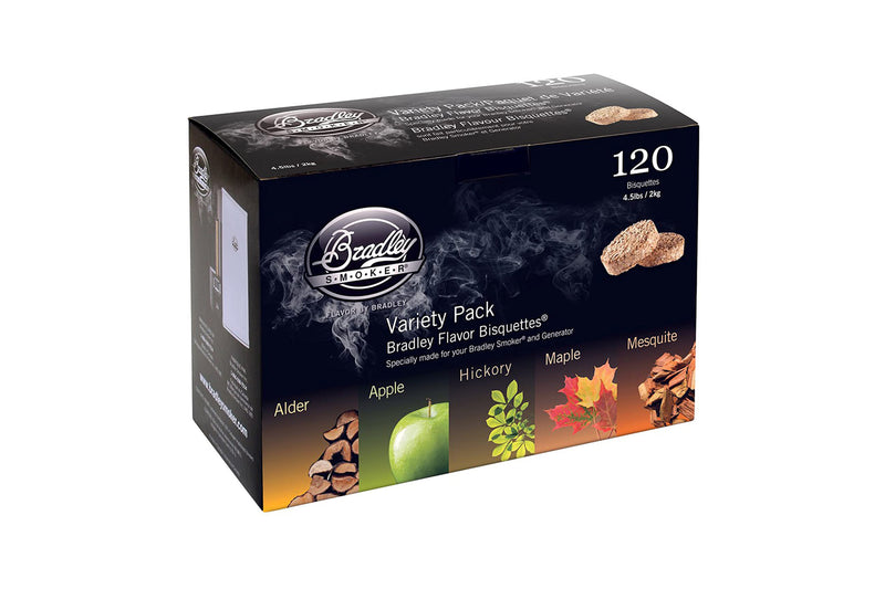 Bradley Variety Pack Bisquettes 120 Pack