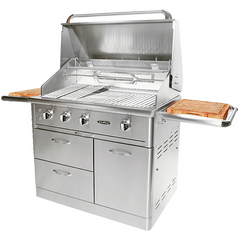 "Capital 2 Burner 40"" Cart Model BBQ with Solid Flat Plate"