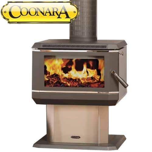 Coonara Medium CMF2 Stainless Steel Freestanding Woodheater, Heater, Coonara