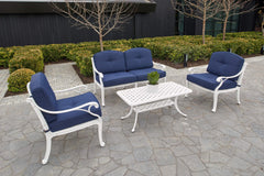 Melton Craft 4 Piece Nassau Deep Seat Setting - Navy