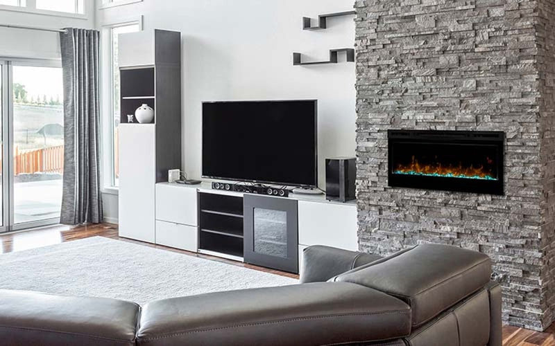 "Dimplex 34"" Wall-Mounted PRISM Electric Fire"