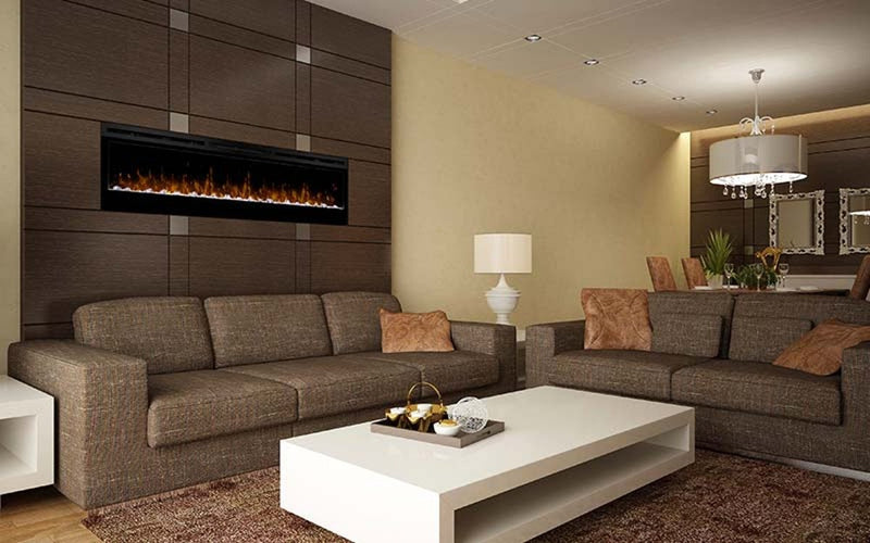 "Dimplex 74"" Wall-Mounted PRISM Electric Fire"