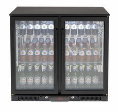 Euro Black Double Doors Beverage Cooler - Joe's BBQs
