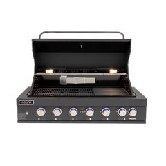 Euro Appliances 6 Burner Black Built In BBQ