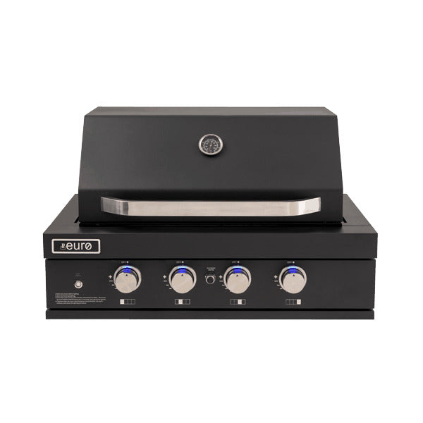 Euro Appliances 4 Burner Black Built In BBQ