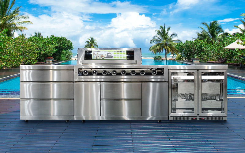 Gasmate Galaxy Outdoor 3 Piece Stainless Steel Kitchen