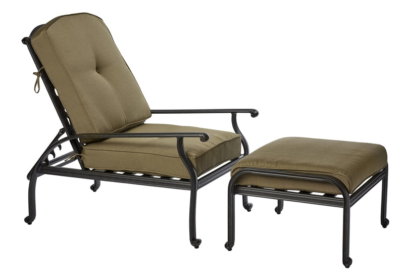 Melton Craft Chaise Chair and Ottoman