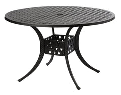Melton Craft 75cm Round Cast Aluminium Dining Table, Furniture, Melton Craft