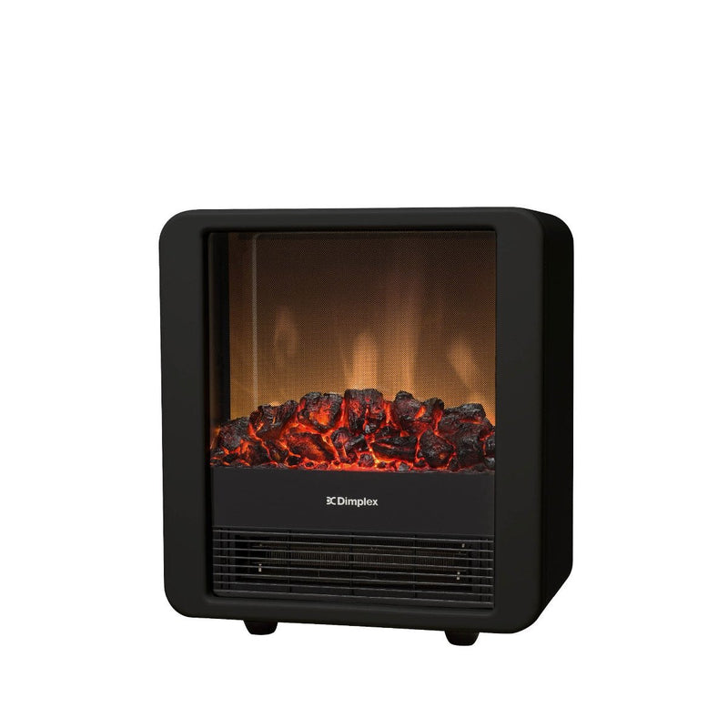 Dimplex Mini Cube Black 1.5kW Portable Electric Fire with Optiflame coal effect