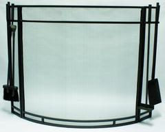 FireUp Curved Fire Screen with Fire Tools