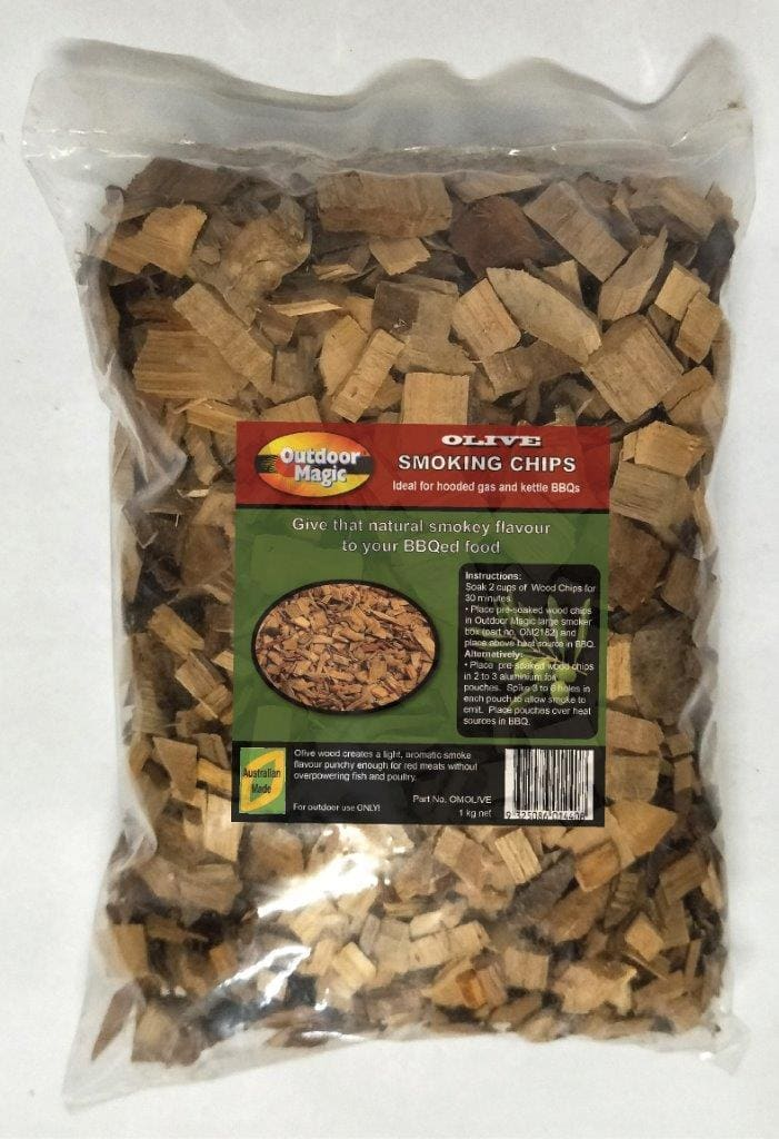 Outdoor Magic Olive 1kg Smoking Chips