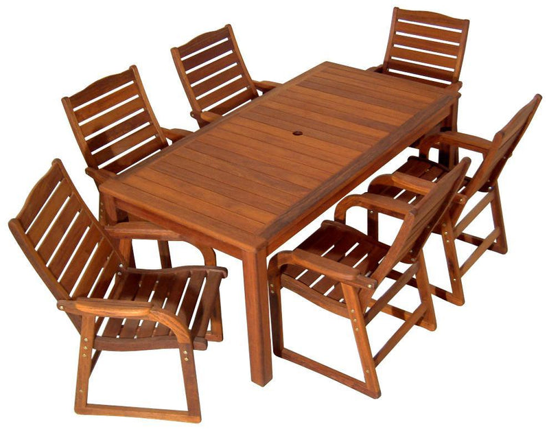 Kwila 7 Piece Prestige Dining Setting, Furniture, Swifts