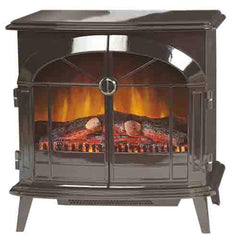 Dimplex Stockbridge 2kW Portable Electric Fire with Optiflame log effect