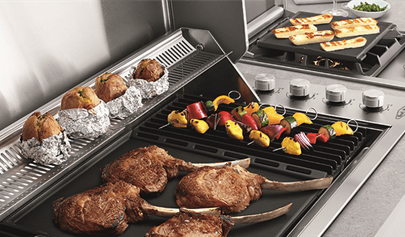 Beefeater Signature ProLine 6 Burner Stainless Steel Built-In BBQ with Hood - Joe's BBQs