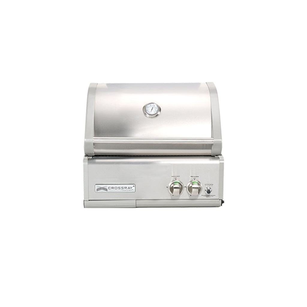 Crossray 2 Burner In-Built Barbecue