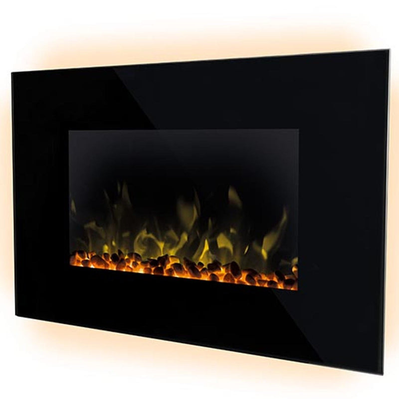 Dimplex Toluca Deluxe 2kW Optiflame LED Wall-Mounted Electric Fire