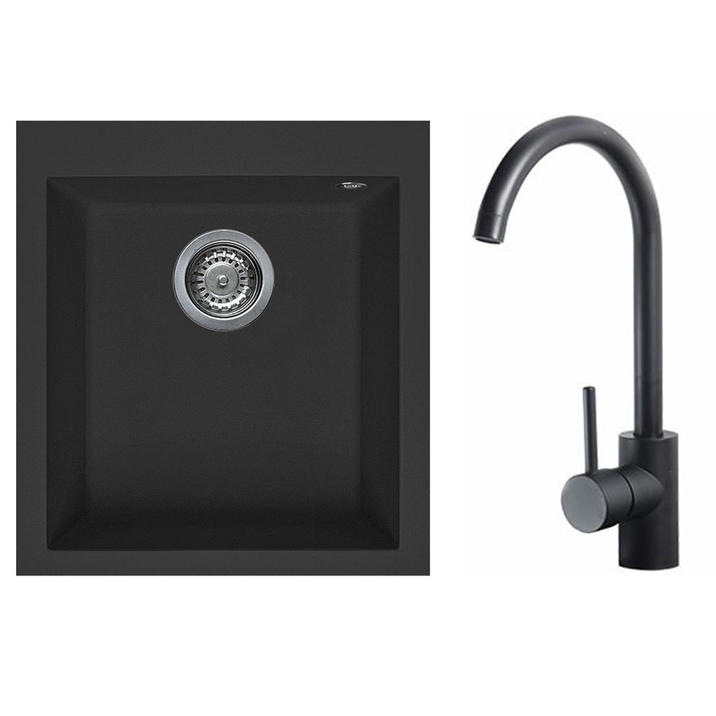Artusi Black Sink and Tap