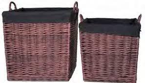 FireUp Set of 2 Dark Tan Wicker Baskets (Large & X-Large), Heater Accessories, S&D Berg