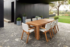 Melton Craft 9 Piece Bairo Teak Setting