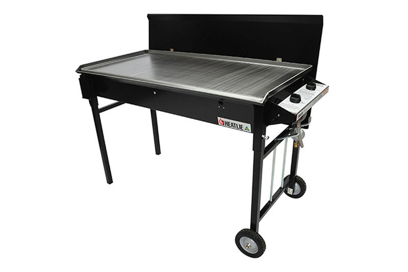 Heatlie 1150 Black Powder Coated Mobile BBQ - Joe's BBQs