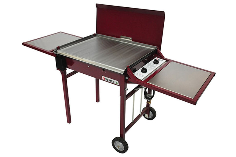 Heatlie 1150 Claret Powder Coated Mobile BBQ - Joe's BBQs