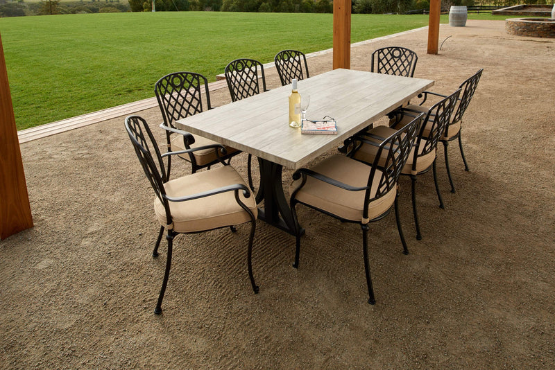Melton Craft 9 Piece Clifton Dining Table Setting