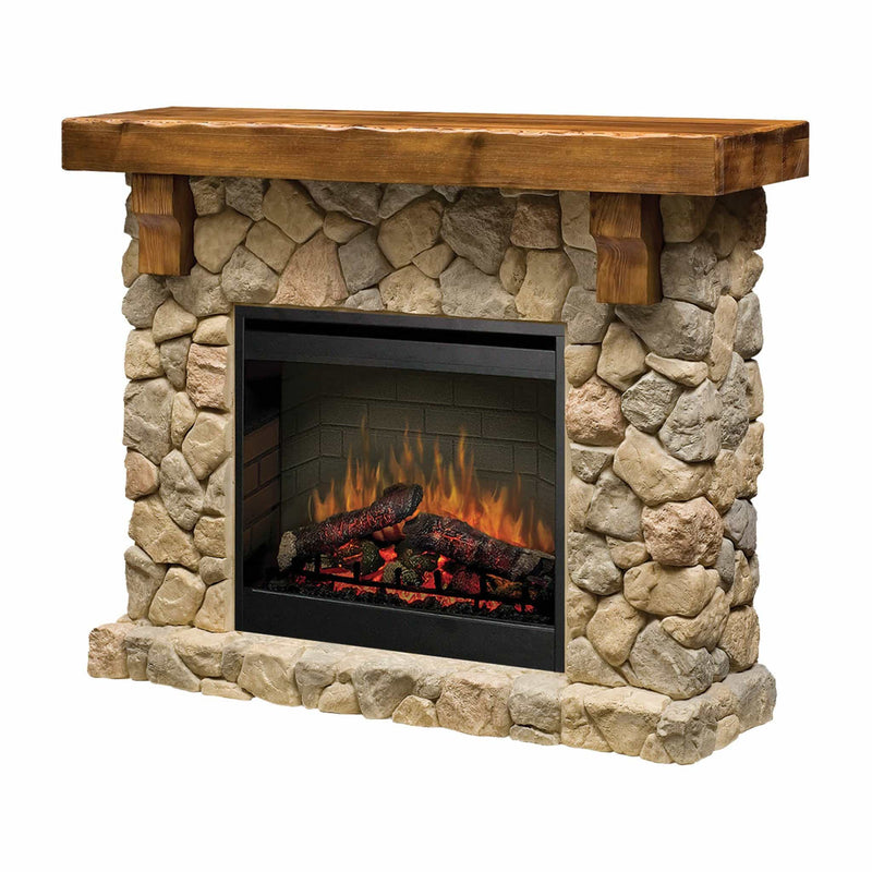 Dimplex Fieldstone 2kw Mantle with LED Firebox - Joe's BBQs