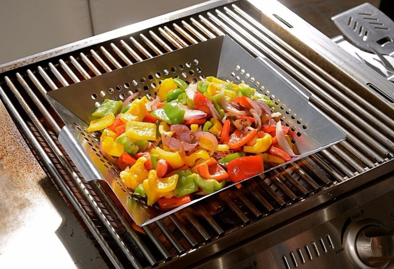 Man Law Stainless Steel Perforated Wok - Joe's BBQs