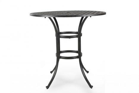 Melton Craft Nassau 107cm Round Cast Aluminium Bar Table, Furniture, Melton Craft