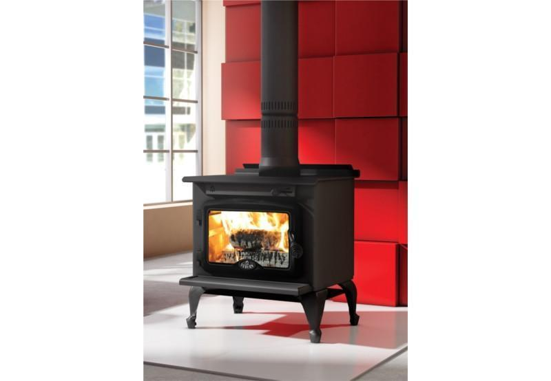 Osburn 900 Freestanding Woodheater (Legs and Black door) - Joe's BBQs