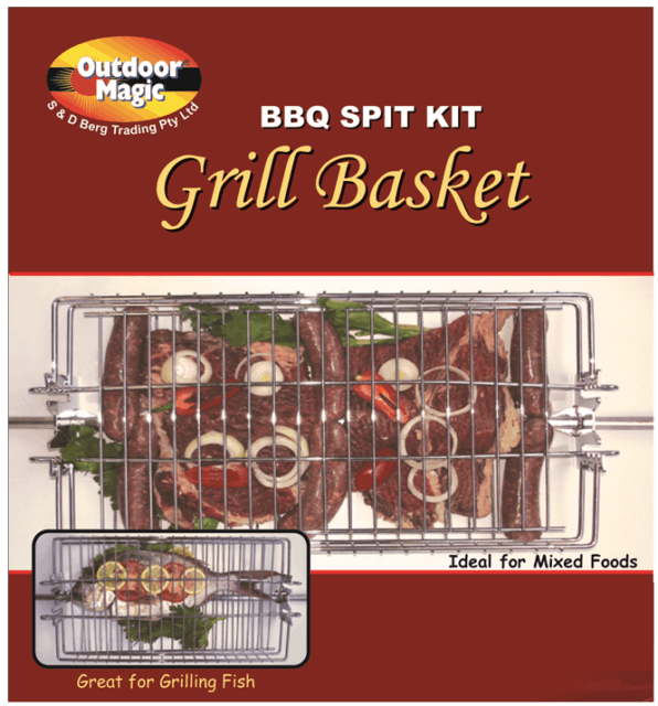 Outdoor Magic Spit Grill Basket